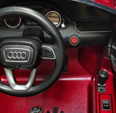 Accu Auto AUDI Q7 Rood Metallic 12V Deuren Rubber Banden-6