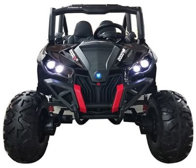 Accu Auto Cross Country DELUX 4X4 MP4-TV Zwart 2 Persoons Rubber Banden