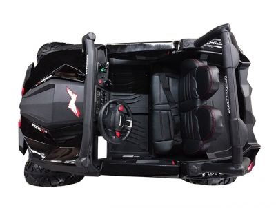 Accu Auto Cross Country DELUX 4X4 MP4-TV Zwart 2 Persoons Rubber Banden-1