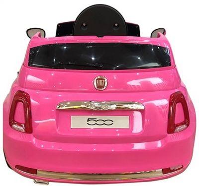 Accu Auto Fiat 500 Roze 12V 2,4G lederen stoel -2