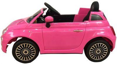 Accu Auto Fiat 500 Roze 12V 2,4G lederen stoel -1