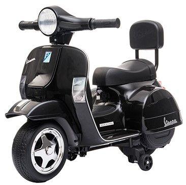 Accu Mini Vespa PX Scooter 6V Zwart