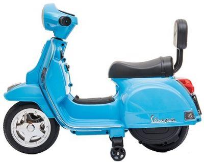 Accu Mini Vespa PX Scooter 6V Blauw-1