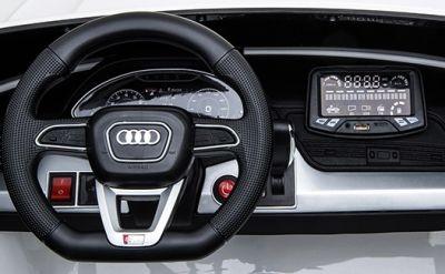 Accu Auto Audi Q5 Blauw Metallic MP4 TV-Scherm 4X4 2 Persoons Rubber Banden-3