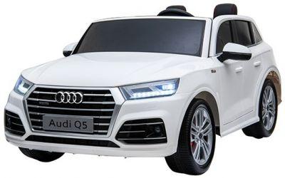 Accu Auto Audi Q5 Wit MP4 TV-Scherm 4X4 2 Persoons Rubber Banden