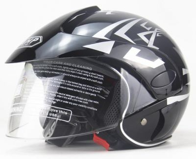 Scooter Helm Zwart-2