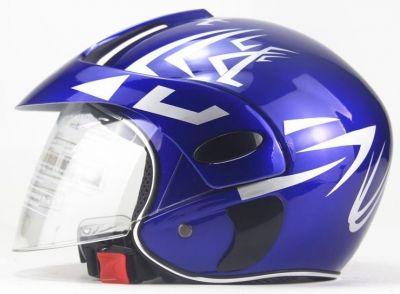 Scooter Helm Blauw