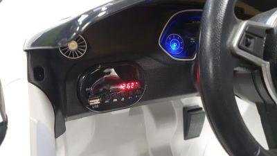 Accu Auto Audi TTRS Wit 12V Lederen Stoel Rubber Banden-4