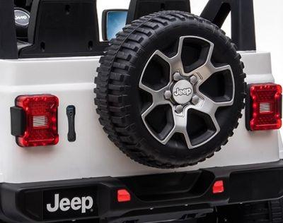 Accu Jeep Wrangler Rubicon Zwart Metallic MP4 Scherm 12V 4X4 2.4G-4