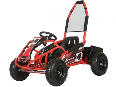 Midi Buggy XL Rood Brushless 1000W 48V Met Vering