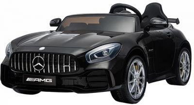 Accu Auto Mercedes AMG GTR 4X4 12V Zwart Metallic 2 persoons -2