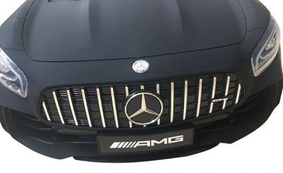 Accu Auto Mercedes AMG GTR 4X4 12V Mat Zwart 2 persoons -1