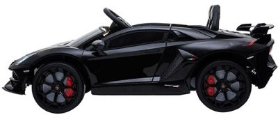 Accu Auto Lamborghini Aventador SVJ 12V Zwart Metallic 2,4G Lederen Stoel-1