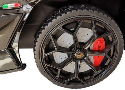 Accu Auto Lamborghini Aventador SVJ 12V Zwart Metallic 2,4G Lederen Stoel-4