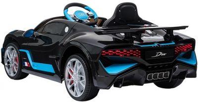 Accu Auto Bugatti Divo 12V Zwart Metallic 2,4G Lederen Stoel Rubber banden-2