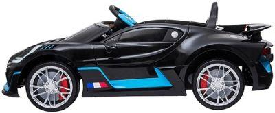 Accu Auto Bugatti Divo 12V Zwart Metallic 2,4G Lederen Stoel Rubber banden-1