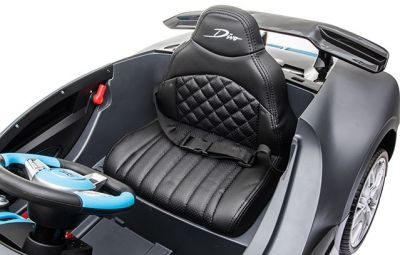 Accu Auto Bugatti Divo 12V Mat Grijs 2,4G Lederen Stoel Rubber banden-3