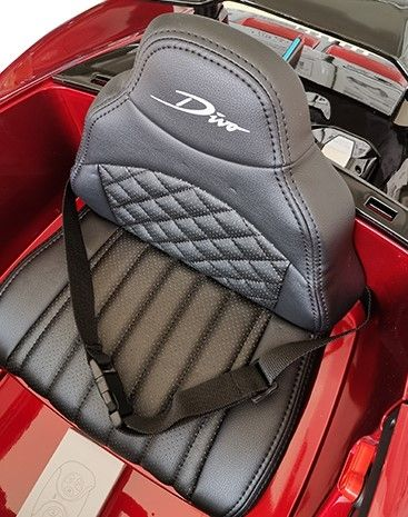Accu Auto Bugatti Divo 12V Rood Metallic 2,4G Lederen Stoel Rubber banden-3