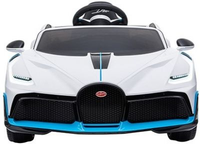 Accu Auto Bugatti Divo 12V Wit 2,4G Lederen Stoel Rubber Banden
