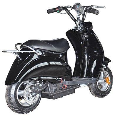 Mini Scooter Classic Zwart-Zwart 350W 36V 3 Speed-1