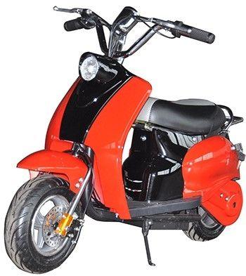 Mini Scooter Classic Rood-Zwart 350W 36V 3 Speed