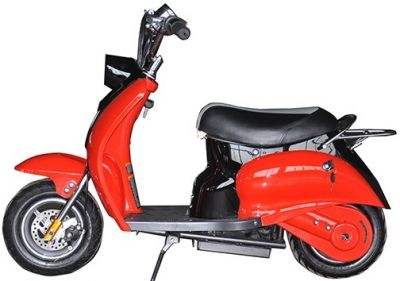Mini Scooter Classic Rood-Zwart 350W 36V 3 Speed-1