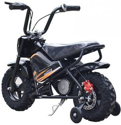 Mini Scooter Monkey Zwart 24V 250Watt Afneembare Zijwieltjes-2