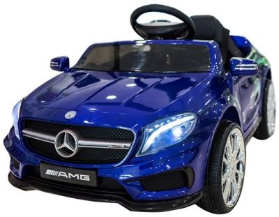 Accu Auto Mercedes GLA45 AMG Blauw Metallic 12V 2,4G Rubber Banden