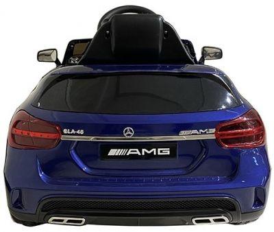 Accu Auto Mercedes GLA45 AMG Blauw Metallic 12V 2,4G Rubber Banden-2