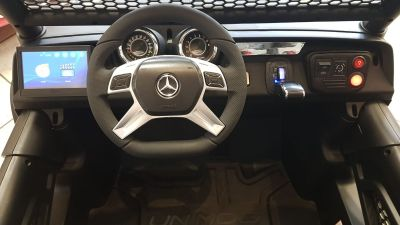 Accu Auto Mercedes Unimog 4X4 MP4-TV Rood Metallic 2 Persoons Rubber Banden-5