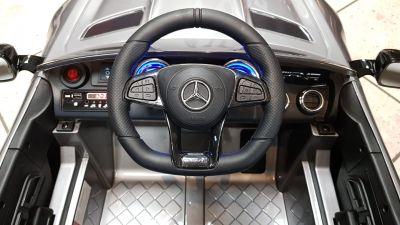 Accu Auto Mercedes AMG GTR 12V 2,4G Zilver Metallic 1Pers -4