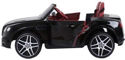 Accu Auto BENTLEY Continental SuperSport 2 persoons Zwart Metallic 12V Rubber Banden-1