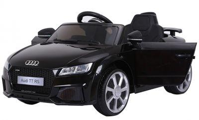 Accu Auto Audi TTRS Zwart 12V Lederen Stoel Rubber Banden