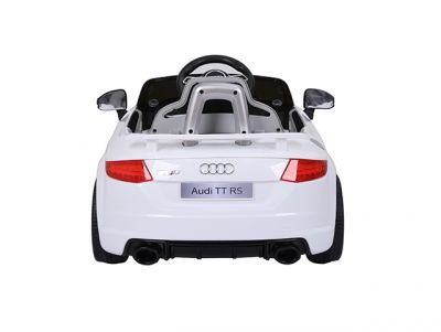 Accu Auto Audi TTRS Wit 12V Lederen Stoel Rubber Banden-1
