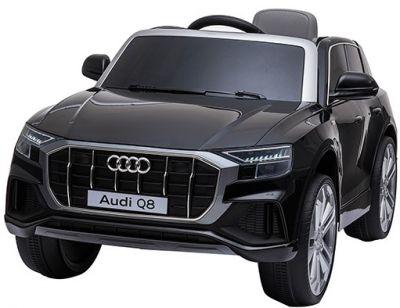 Accu Auto AUDI Q8 Zwart Metallic 12V 2,4G Deuren Rubber Banden