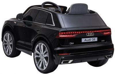 Accu Auto AUDI Q8 Zwart Metallic 12V 2,4G Deuren Rubber Banden-2