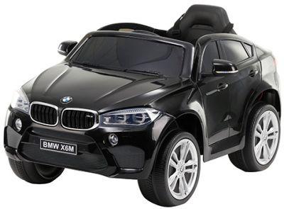 Accu Auto BMW X6M 1 Pers. Zwart Metallic 12V 2.4G Rubber Banden