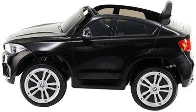 Accu Auto BMW X6M 1 Pers. Zwart Metallic 12V 2.4G Rubber Banden-1