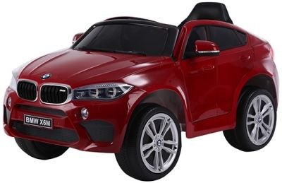 Accu Auto BMW X6M 1 Pers. Rood Metallic 12V 2.4G Rubber Banden