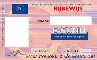 Kenteken stickerset EU op eigen naam & rijbewijs-1