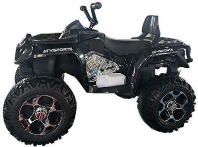 Accu Quad Venom Zwart 12V Leder rubber banden 2,4G Afst. Bed. -1