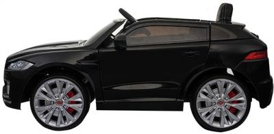 Accu Auto Jaguar F-PACE S Zwart Metallic 12V Deuren 2.4G Rubber banden-1