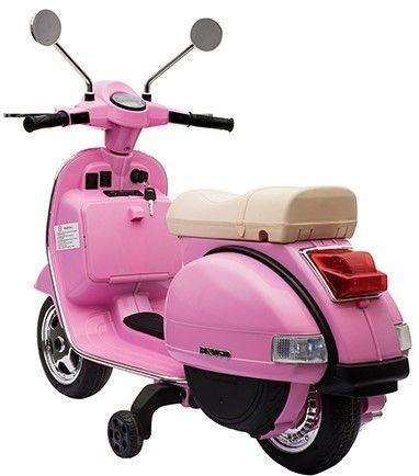 Accu Vespa PX150 Scooter 12V Roze Rubber Banden-3