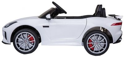 Accu Auto ACTIE Jaguar F-TYPE SVR Wit 12V Deuren 2.4G Rubber Banden-1