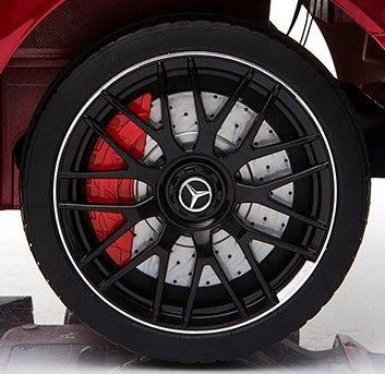 Accu Auto Mercedes C63s-AMG Blauw Metallic 12V Rubber Banden-5