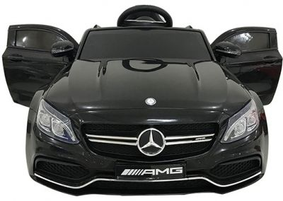 Accu Auto Mercedes C63s-AMG Zwart 12V Rubber Banden