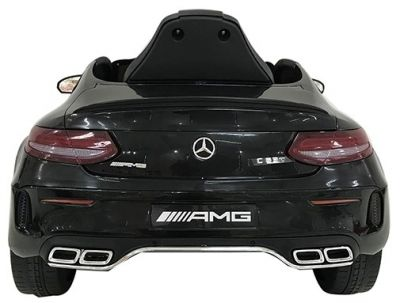 Accu Auto Mercedes C63s-AMG Zwart 12V Rubber Banden-1