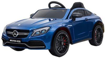 Accu Auto Mercedes C63s-AMG Blauw Metallic 12V Rubber Banden