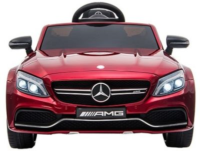 Accu Auto Mercedes C63s-AMG Rood Metallic 12V Rubber Banden