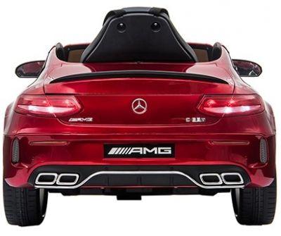 Accu Auto Mercedes C63s-AMG Rood Metallic 12V Rubber Banden-2